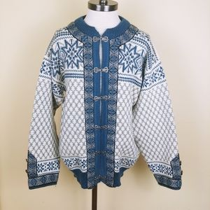 Dale Of Norway Classic Fair Isle Wool Cardigan